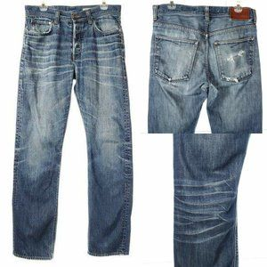 H&M Very Distressed Jeans Straight Leg 32x32 Men
